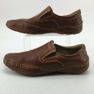 GBX Mens 12M Summah Perforated Casual Loafers Brow